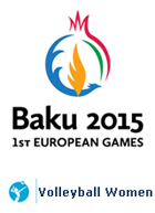 Baku 2015 - 1st EUROPEAN GAMES Volleyball Women